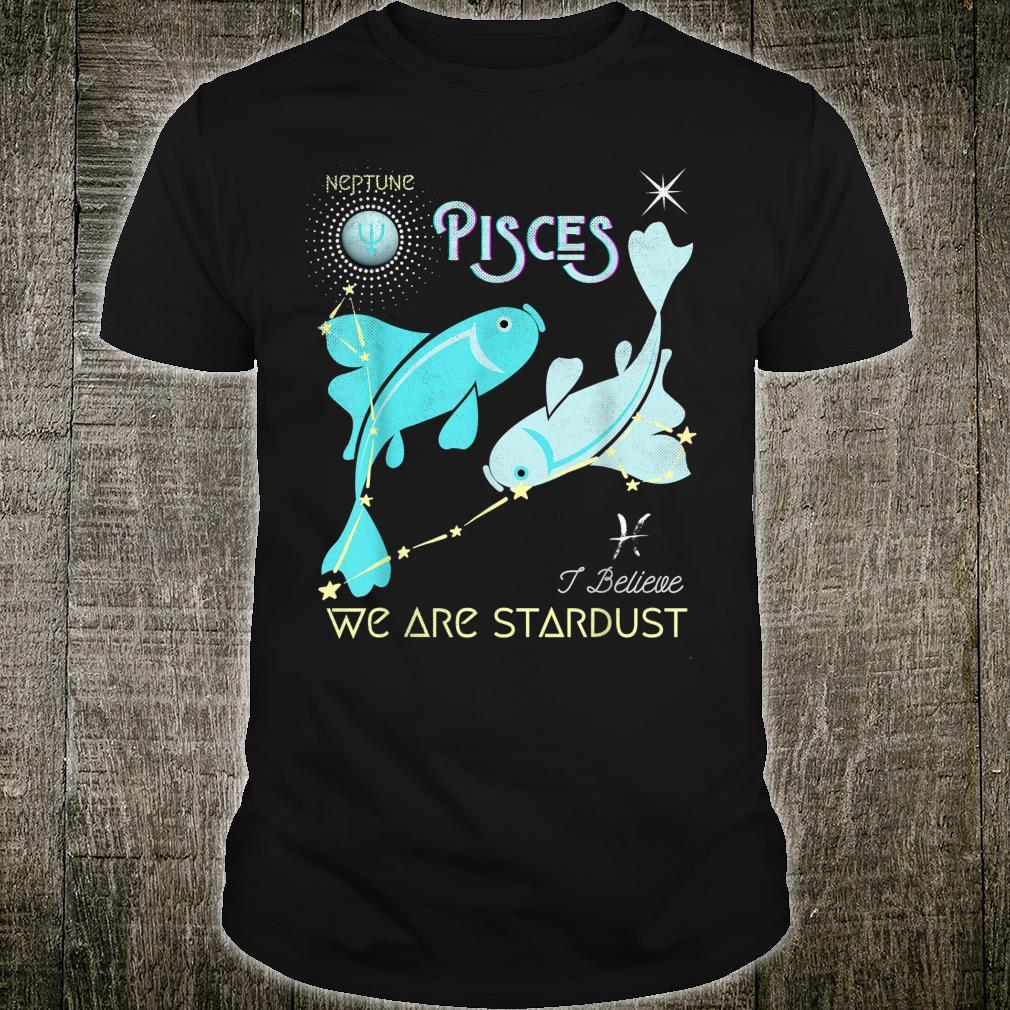 Pisces Zodiac Stardust Constellation Neptune Distressed Shirt