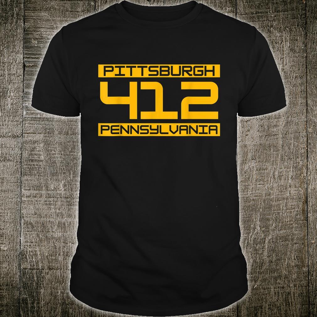 Pittsburgh 412 Pennsylvania Steel City Shirt