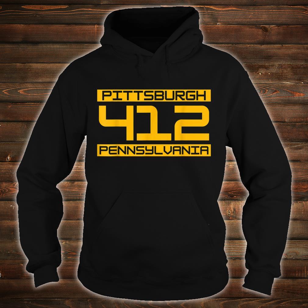 Pittsburgh 412 Pennsylvania Steel City Shirt hoodie
