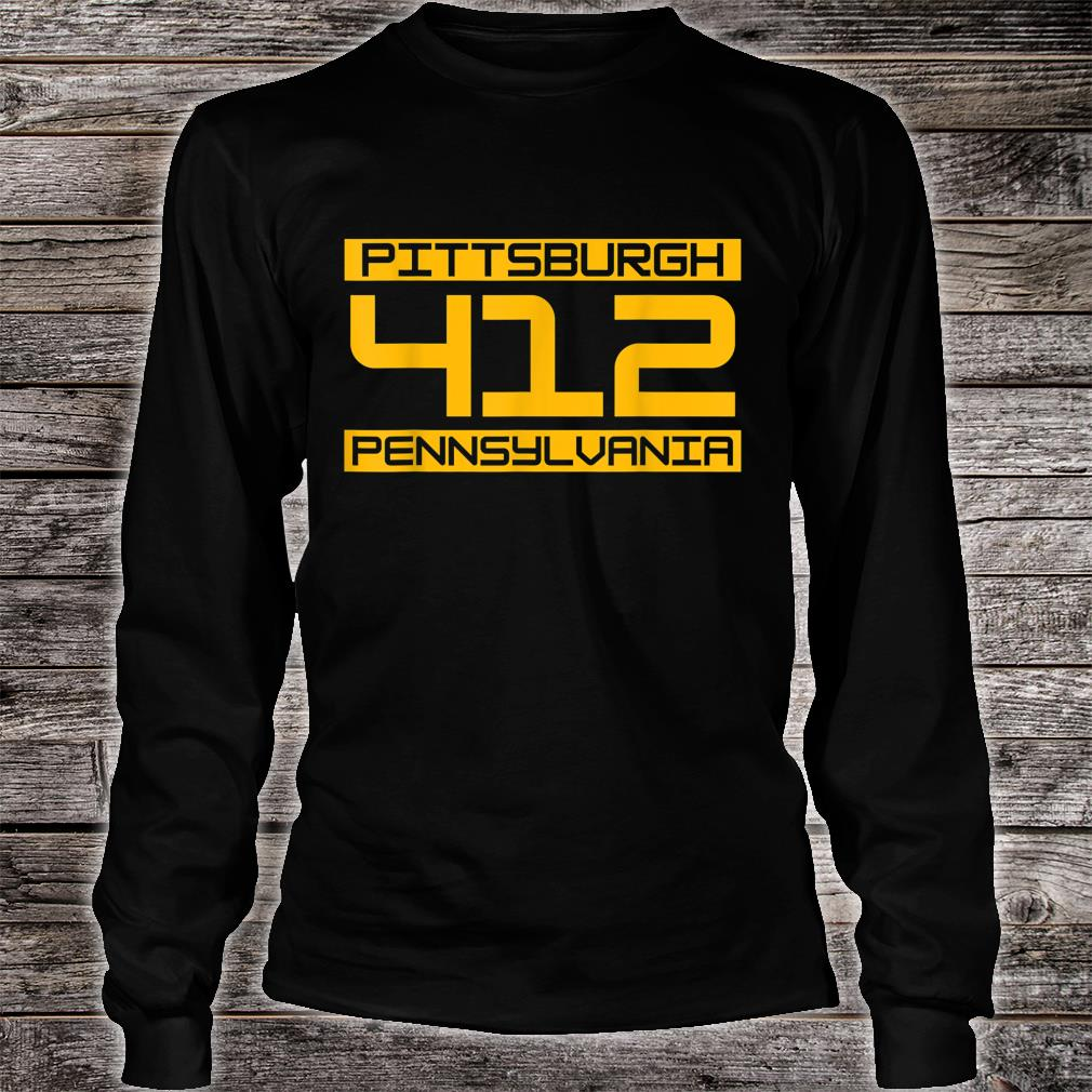 Pittsburgh 412 Pennsylvania Steel City Shirt long sleeved
