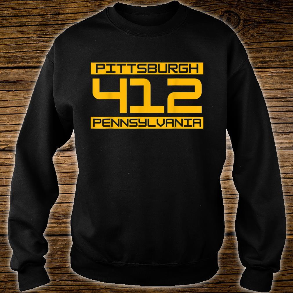 Pittsburgh 412 Pennsylvania Steel City Shirt sweater