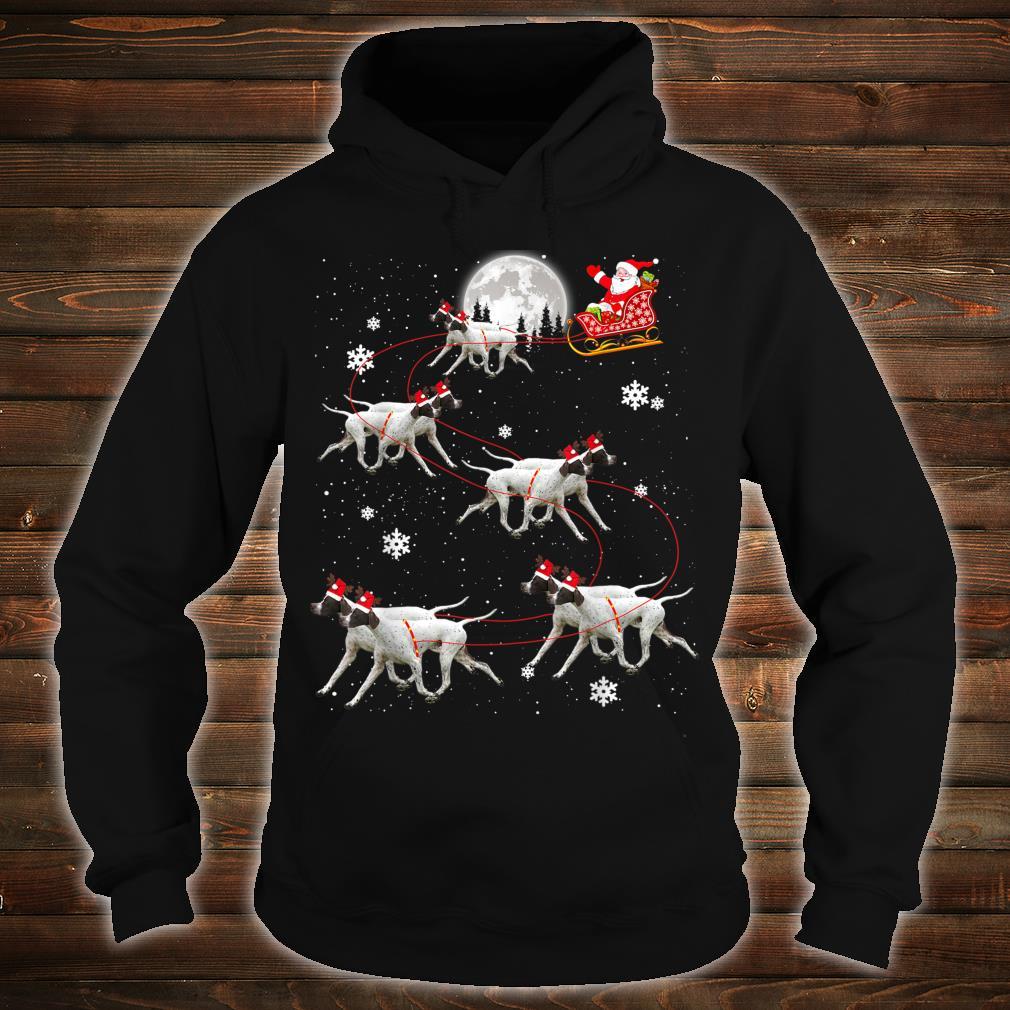Pointer Reindeer Santa Xmas For Dog Shirt hoodie