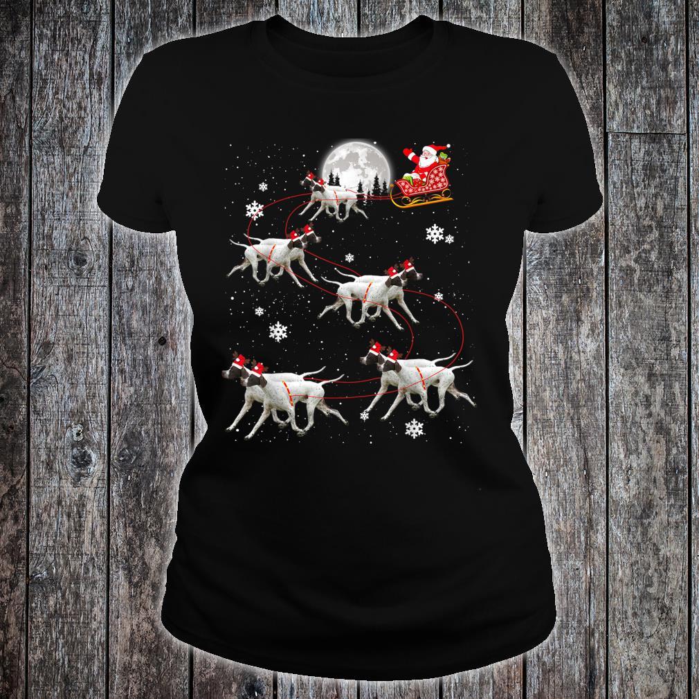 Pointer Reindeer Santa Xmas For Dog Shirt ladies tee