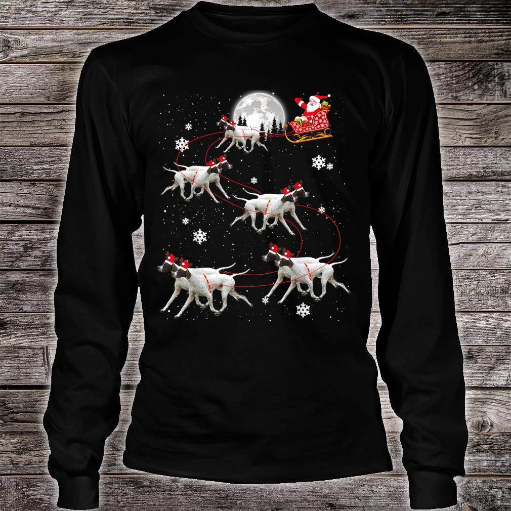 Pointer Reindeer Santa Xmas For Dog Shirt long sleeved