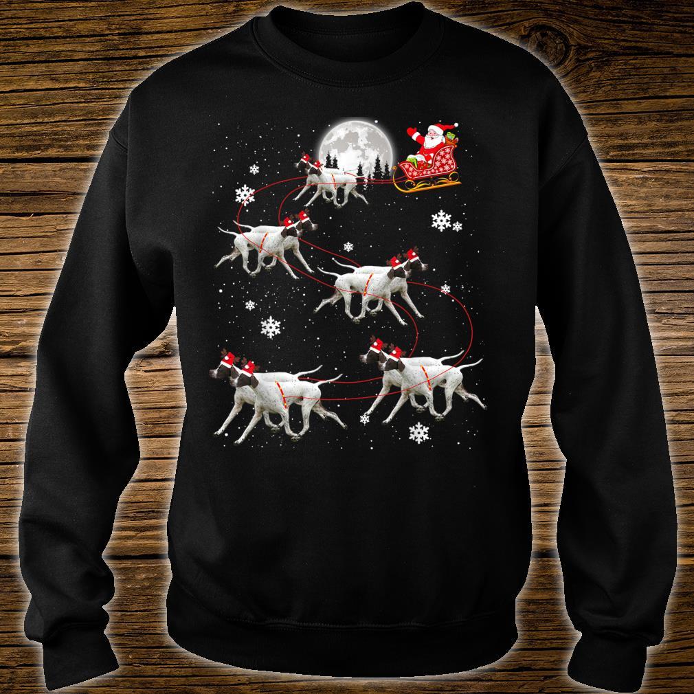 Pointer Reindeer Santa Xmas For Dog Shirt sweater