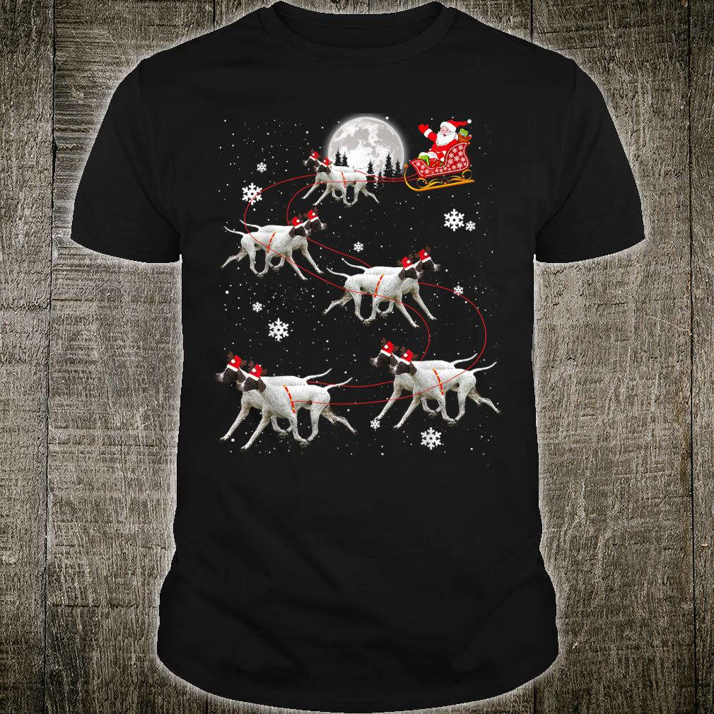 Pointer Reindeer Santa Xmas For Dog Shirt