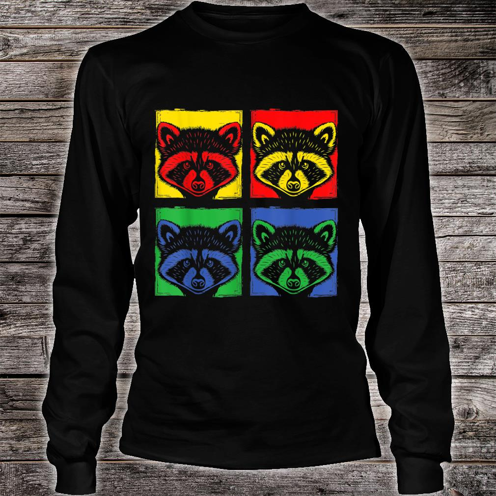 Pop Art Racoon Shirt long sleeved