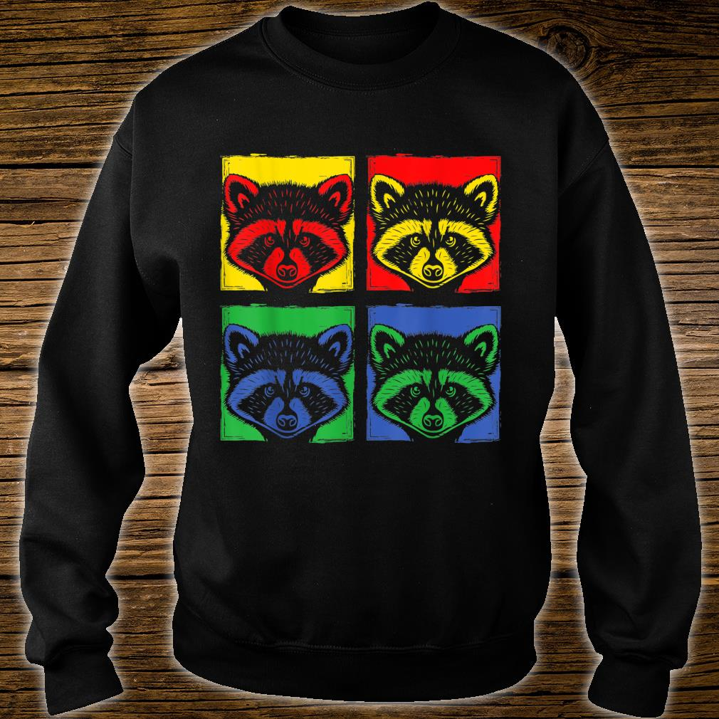 Pop Art Racoon Shirt sweater