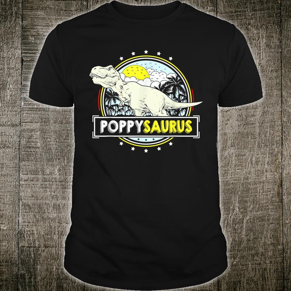 PoppySaurus from Grandchildren Poppy T Rex Dinosaur Shirt