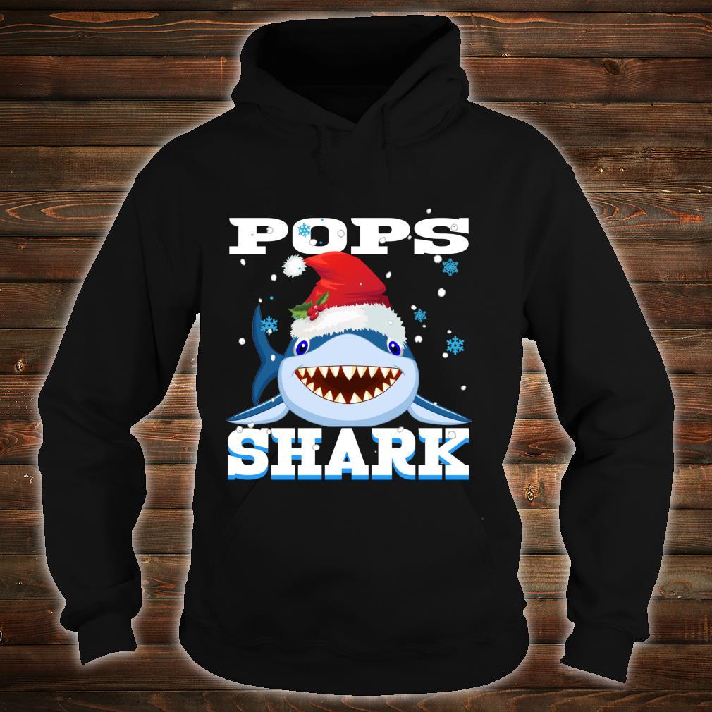 Pops Shark Santa Hat Christmas Grandpa Shark Shirt hoodie