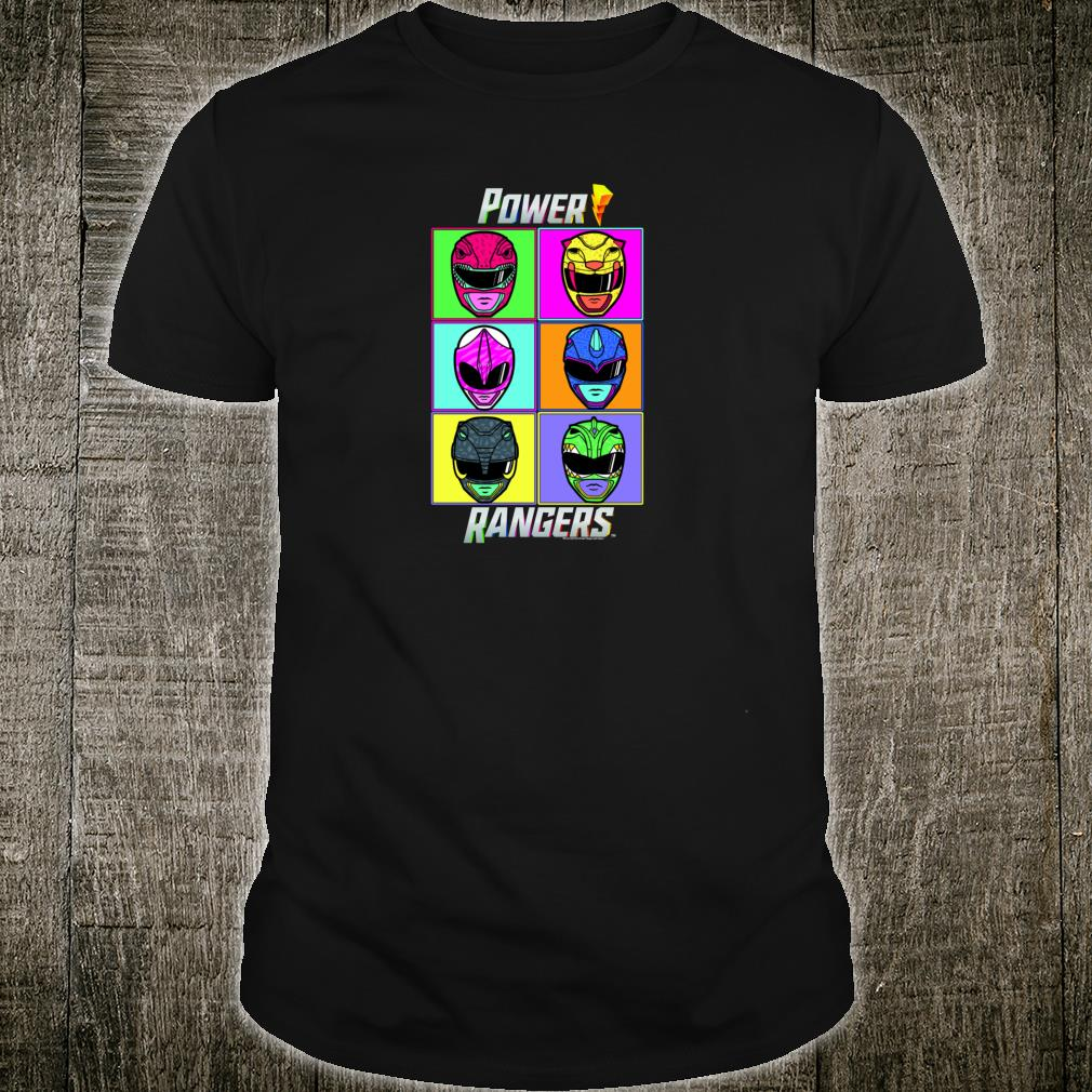 Power Rangers Pop Art Box Up Shirt