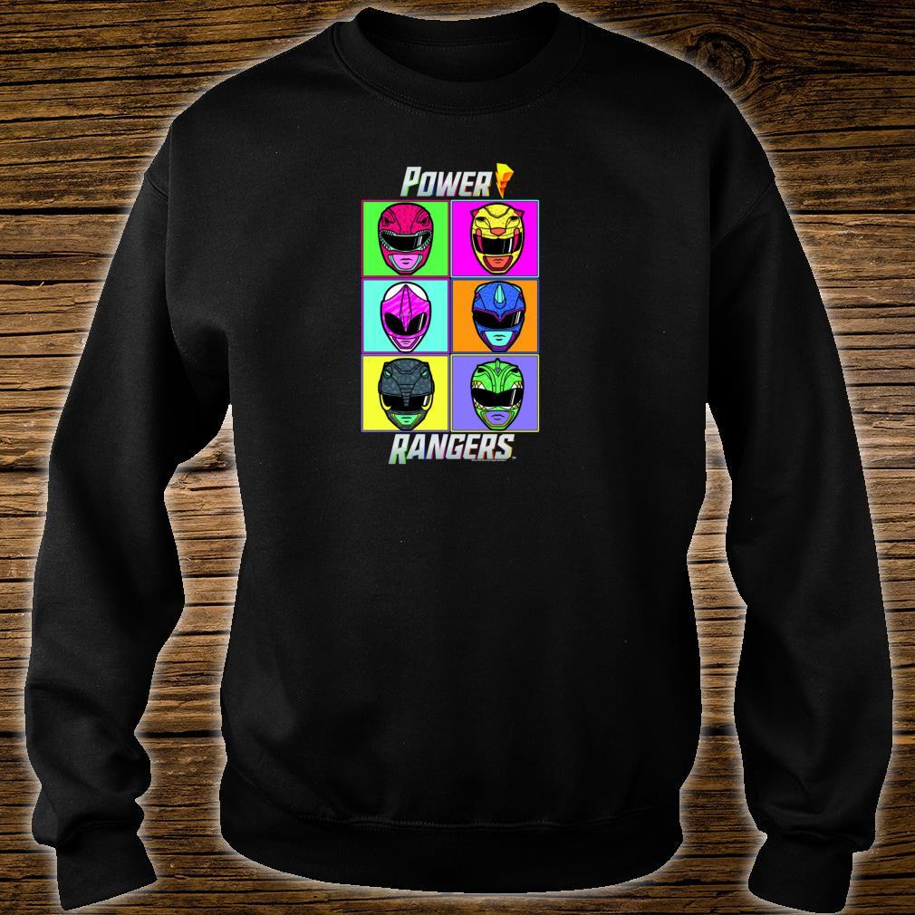Power Rangers Pop Art Box Up Shirt sweater