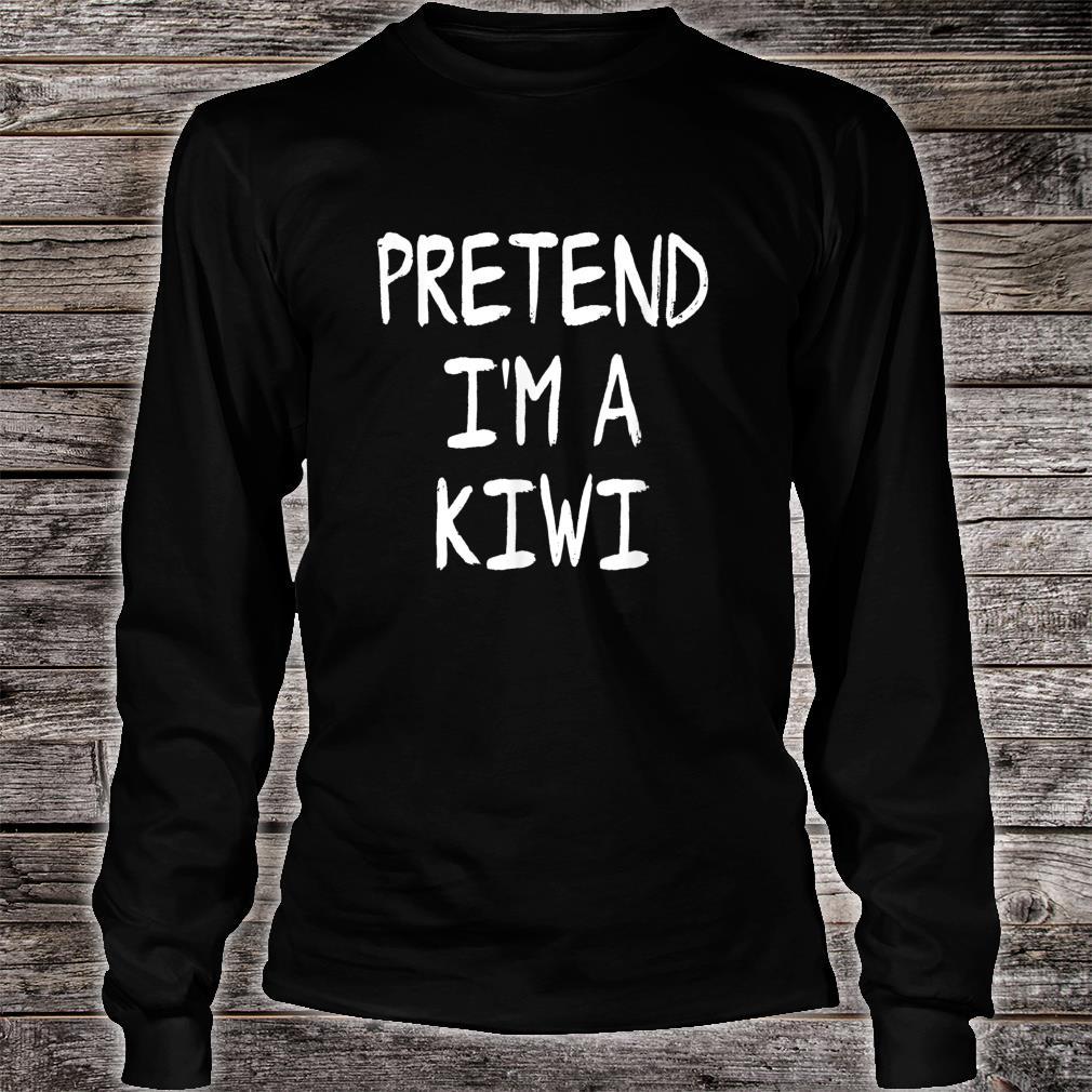 Pretend I'm a Kiwi Lazy Halloween Costume Party Shirt long sleeved