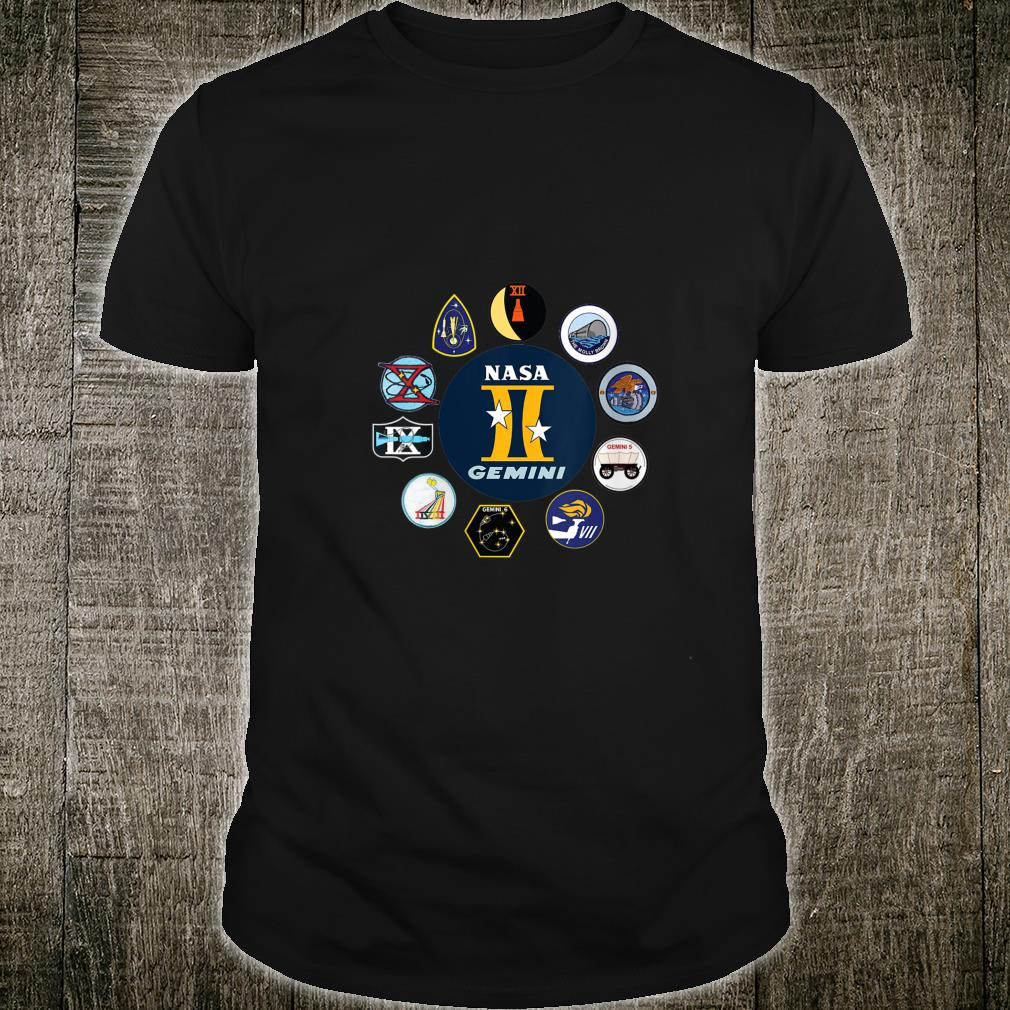 Project Gemini Missions Patch Badge NASA Shirt