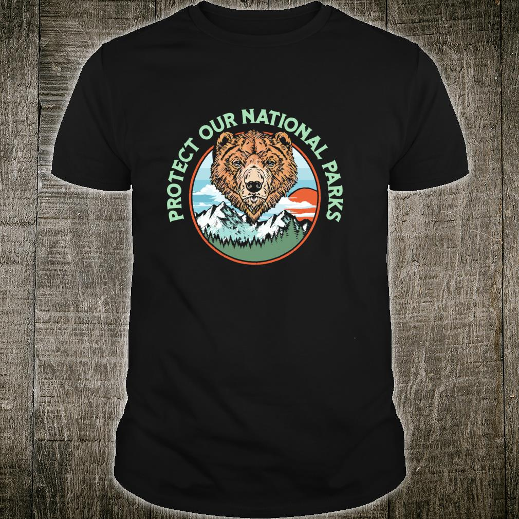 Protect Our National Parks Retro Grizzly Bear Shirt