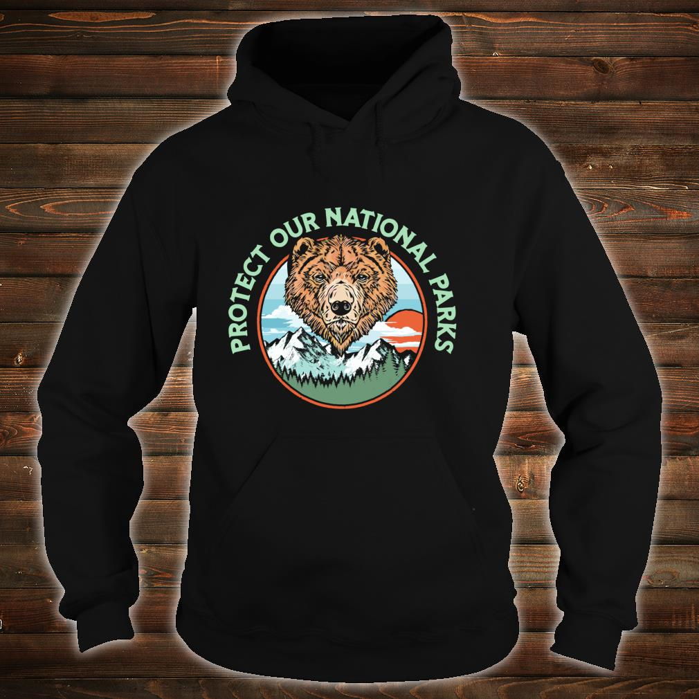 Protect Our National Parks Retro Grizzly Bear Shirt hoodie
