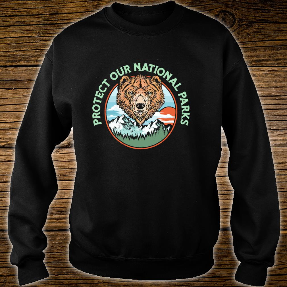 Protect Our National Parks Retro Grizzly Bear Shirt sweater