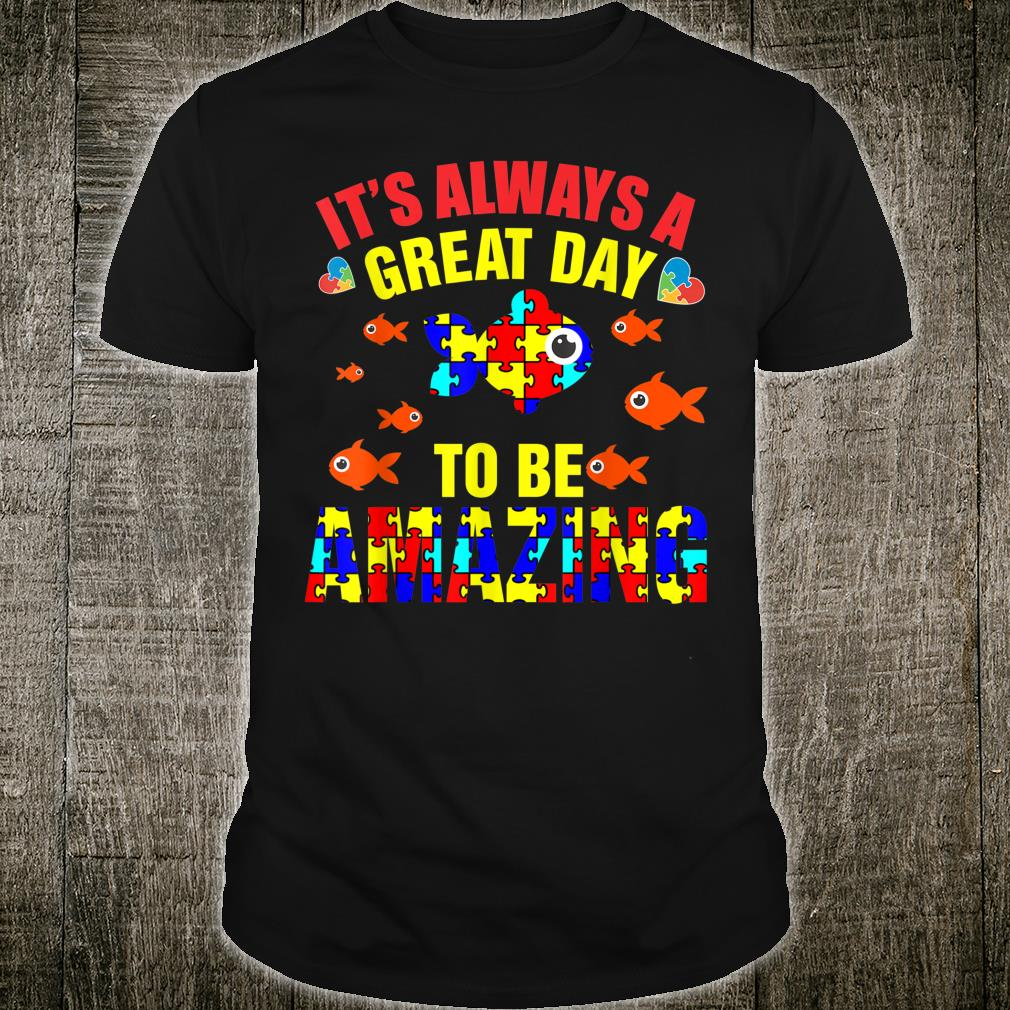 Proud Autistic Autism Fish Autism Awareness Shirt