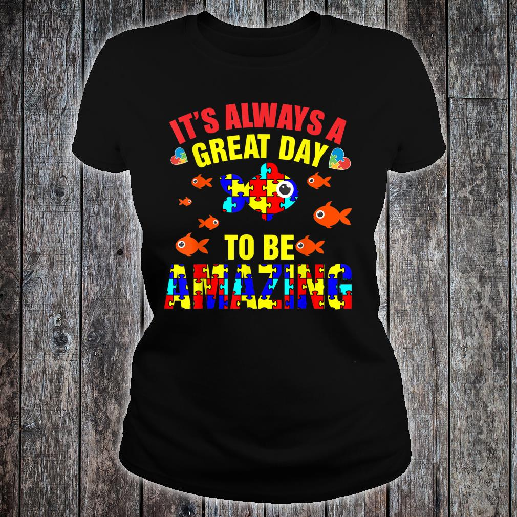 Proud Autistic Autism Fish Autism Awareness Shirt ladies tee