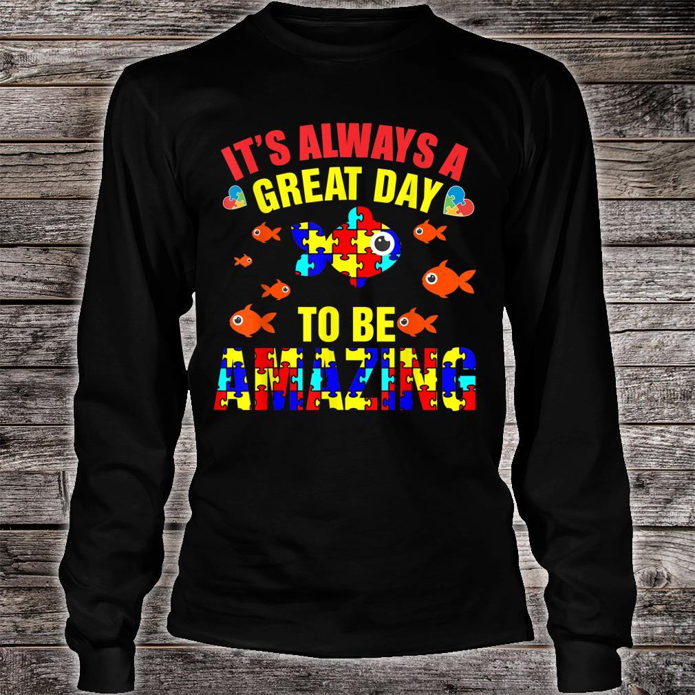 Proud Autistic Autism Fish Autism Awareness Shirt long sleeved