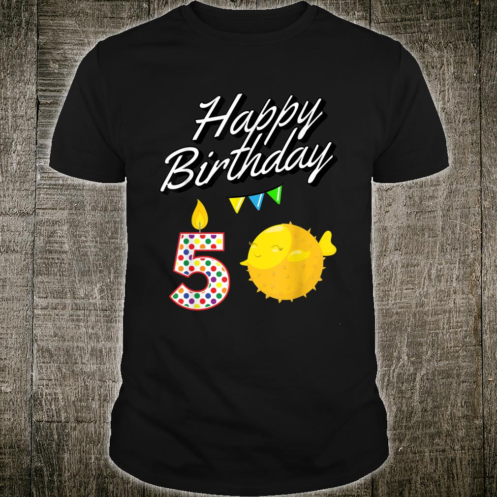 Puffer Fish Kawaii for 5 Year Old Birthday Shirt