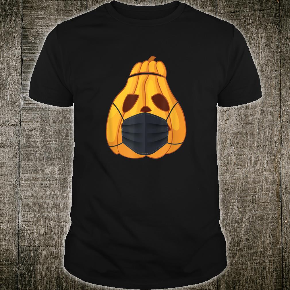 Pumpkin Wearing A Face Mask Germophobe Halloween Shirt