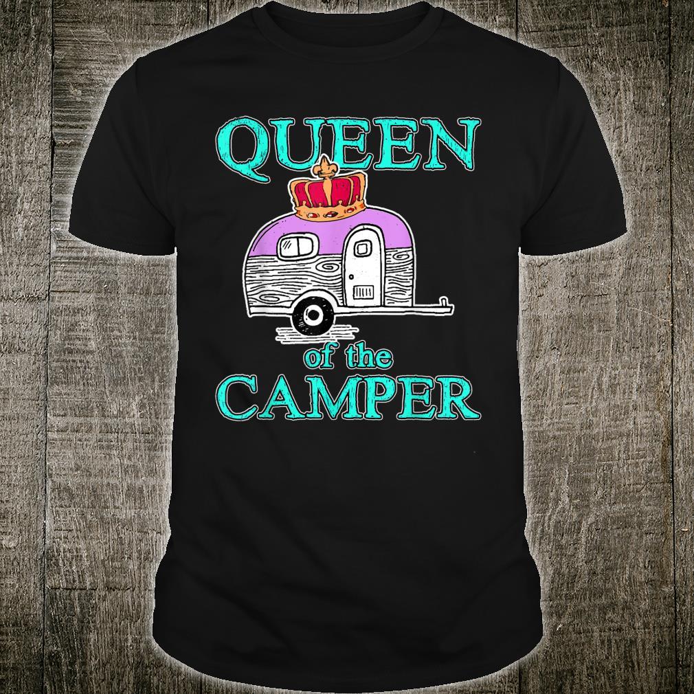 Queen of the Camper Outdoor Camping Camper Girls Shirt