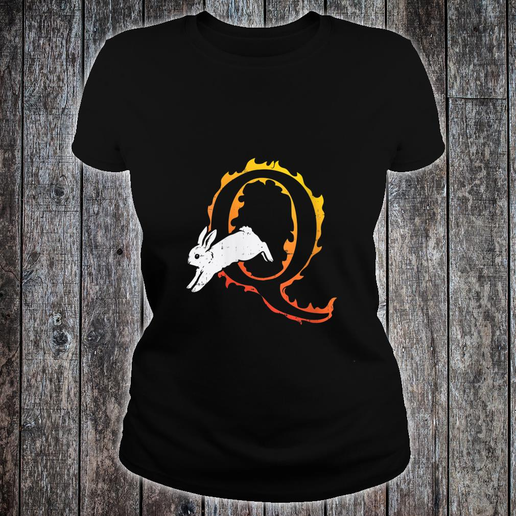 Rabbit White Flame Q QAnon Deep State WWG1WGA Shirt ladies tee