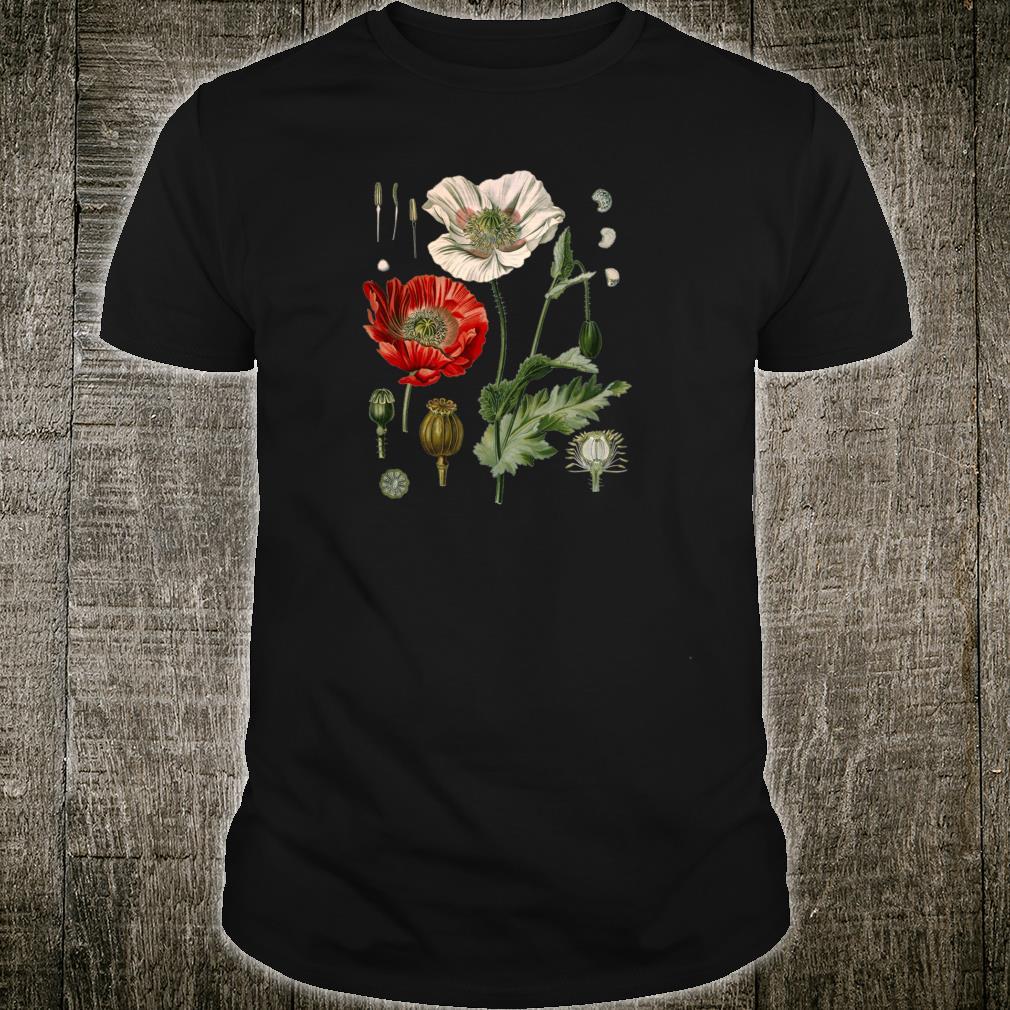 Red Poppy flower Botanical Poppies Red Poppy Shirt