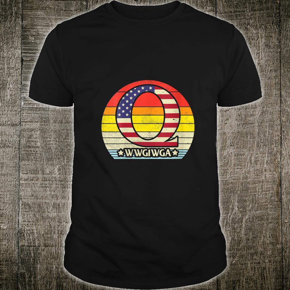 Retro Vintage QAnon WWG1WGA Great Awakening Conspiracy Shirt