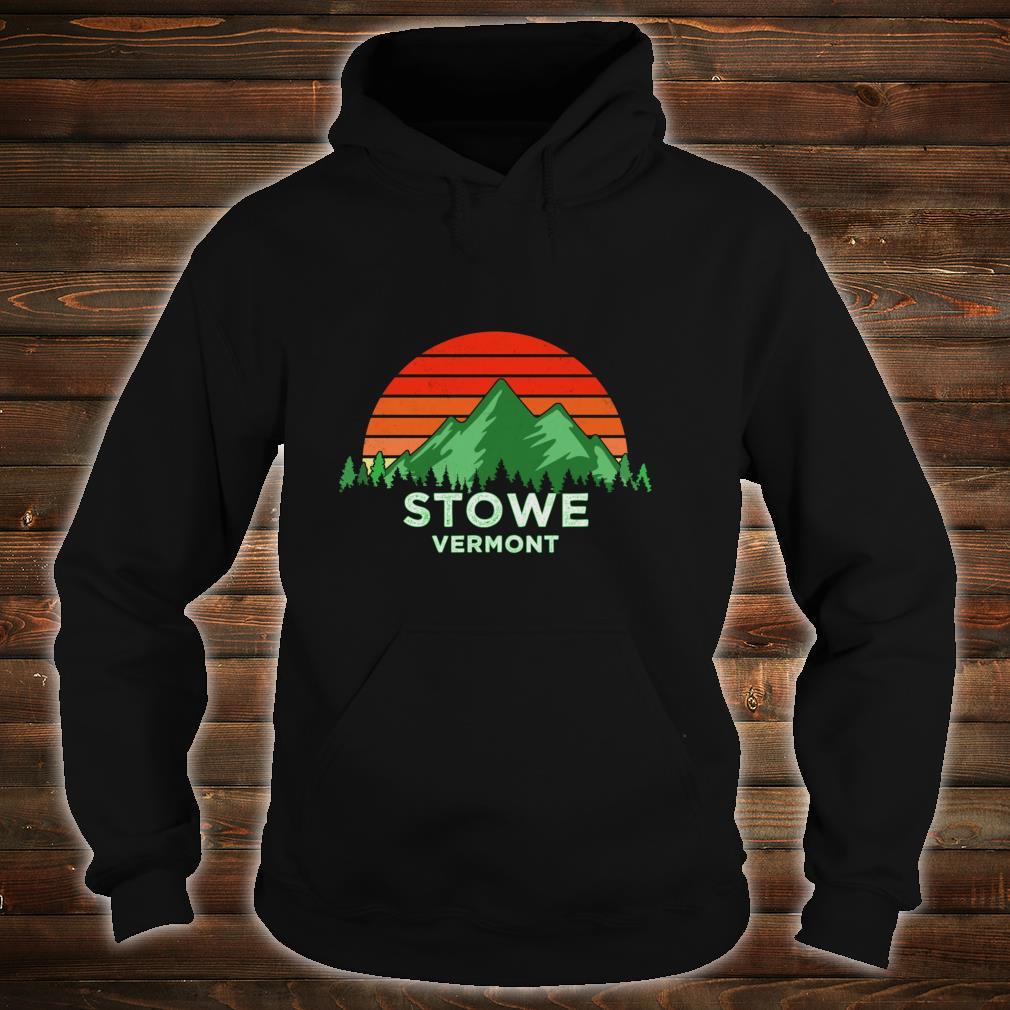 Retro Vintage Stowe Design Vermont Shirt hoodie