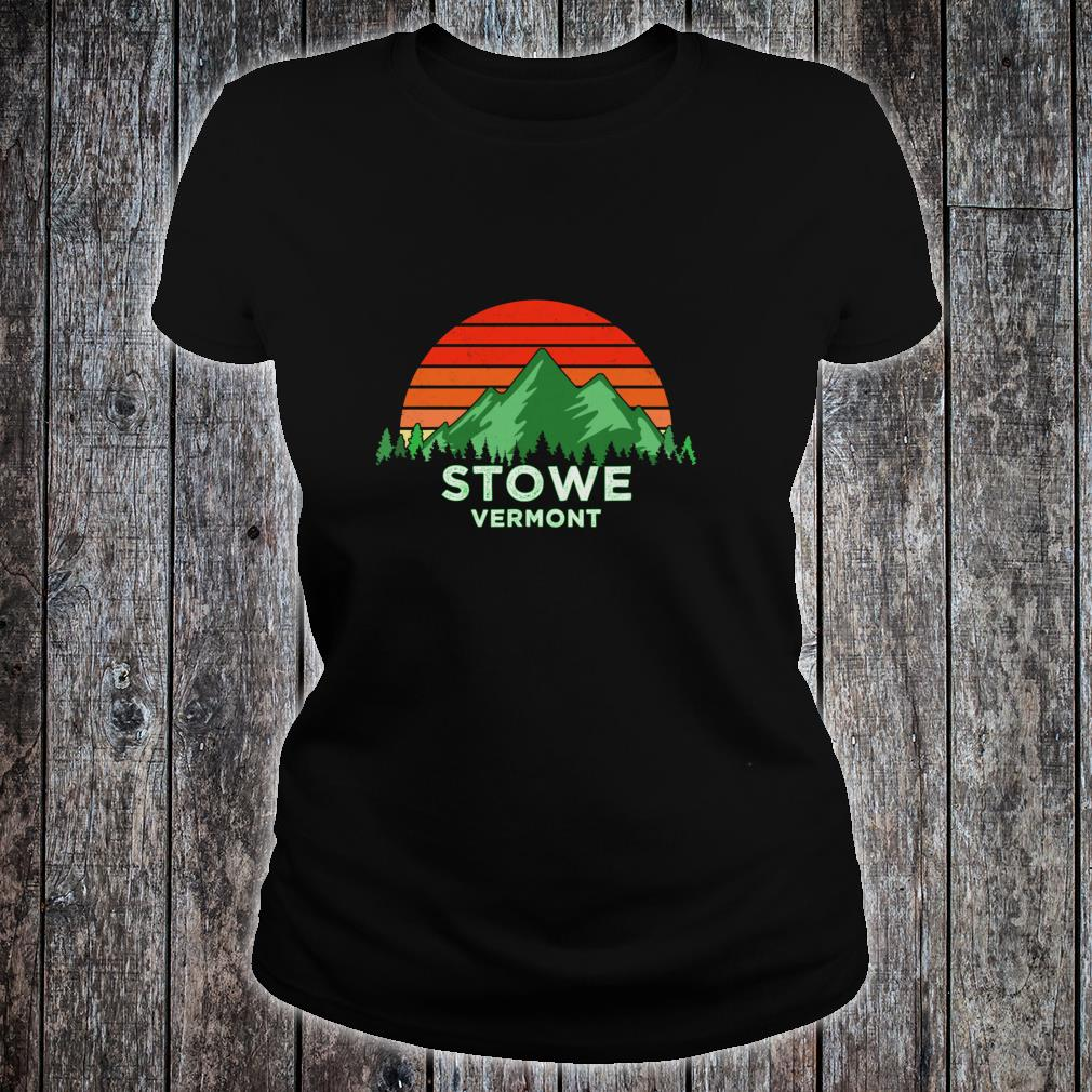 Retro Vintage Stowe Design Vermont Shirt ladies tee