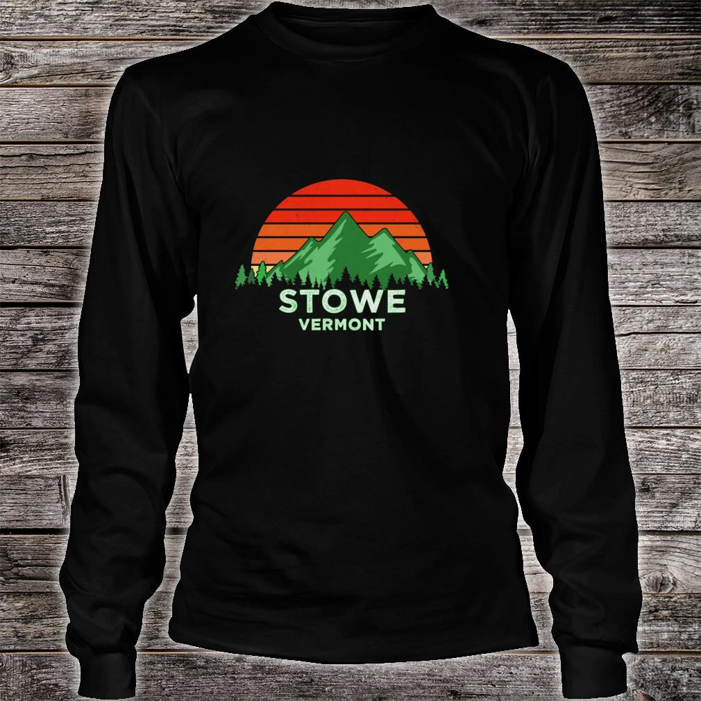 Retro Vintage Stowe Design Vermont Shirt long sleeved