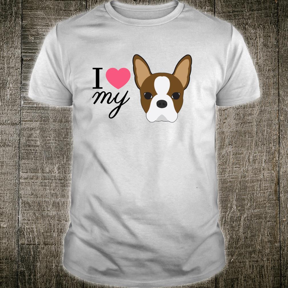 Rote Boston Terrier Liebe Shirt