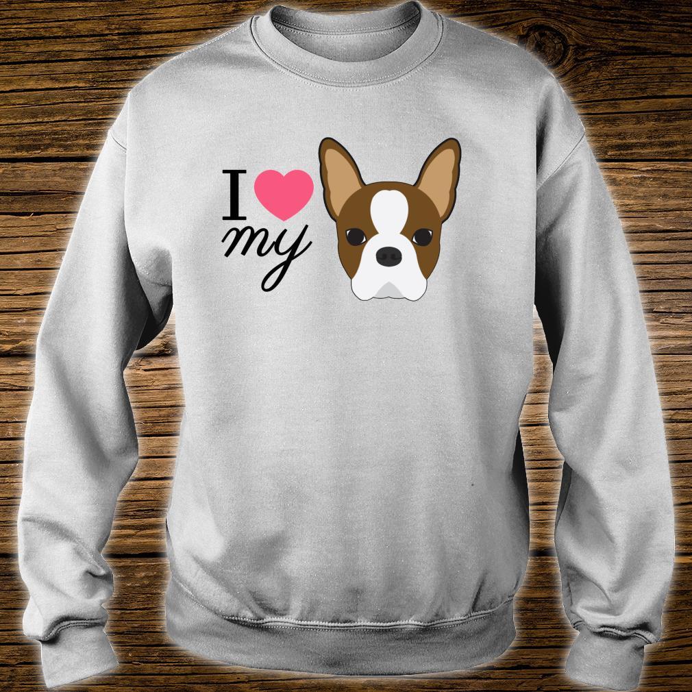 Rote Boston Terrier Liebe Shirt sweater