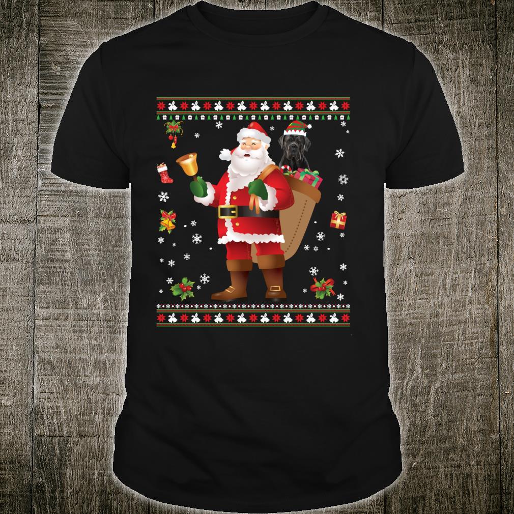 Santa Cane Corso Dog Present Merry Christmas Ugly Shirt