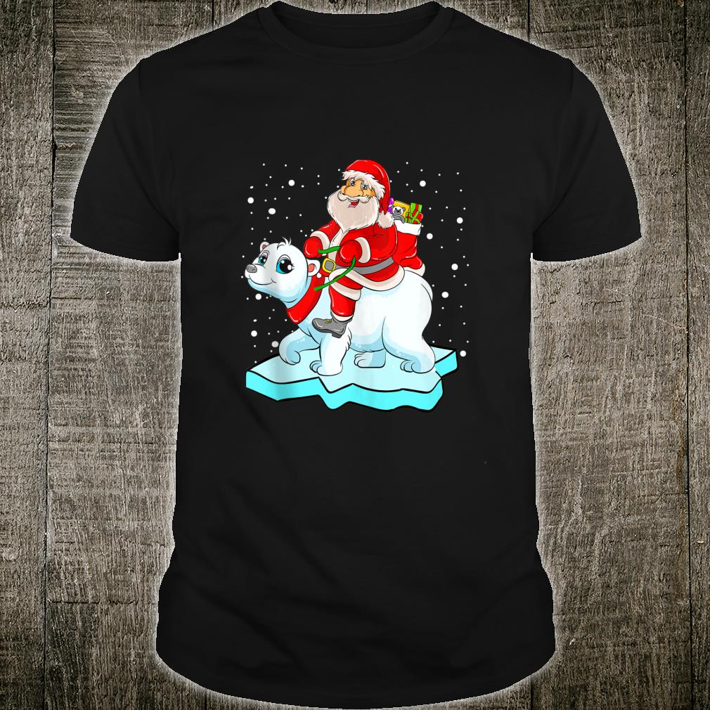 Santa Claus Riding Polar Bear Christmas Shirt