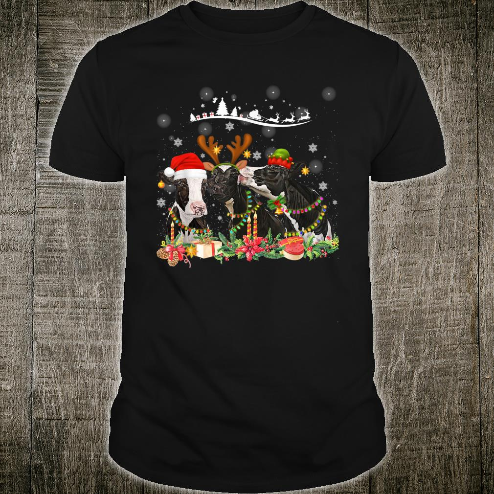 Santa Cows Christmas Cow Shirt