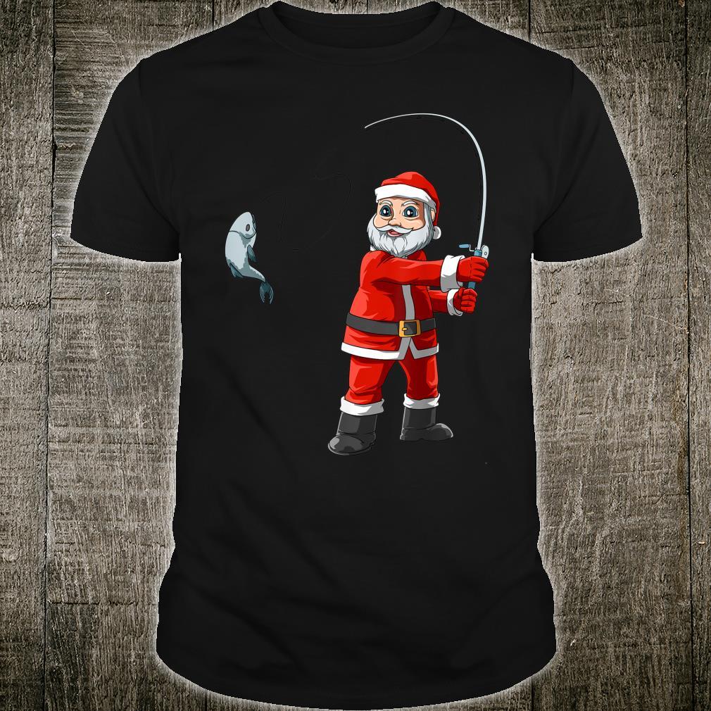 Santa Fishing Christmas Santa Fisherman Boat Fishings Shirt
