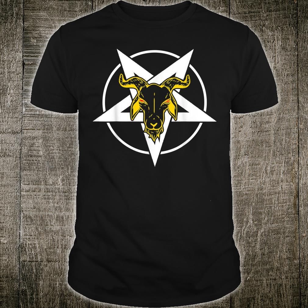Satan Baphomet Evil Devil Occult Satanic Pentagram Shirt