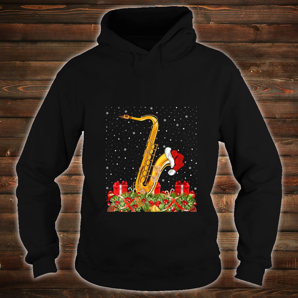 Saxophone Musicians Xmas Santa Hat Saxophone Christmas Shirt hoodie