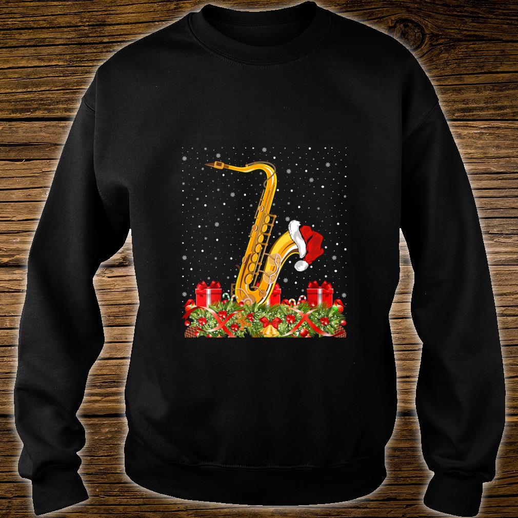 Saxophone Musicians Xmas Santa Hat Saxophone Christmas Shirt sweater