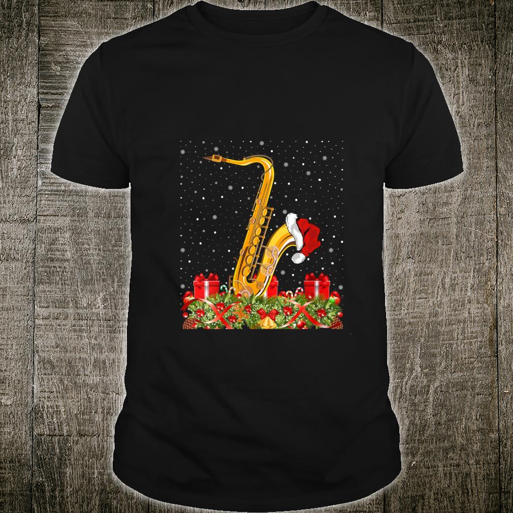 Saxophone Musicians Xmas Santa Hat Saxophone Christmas Shirt