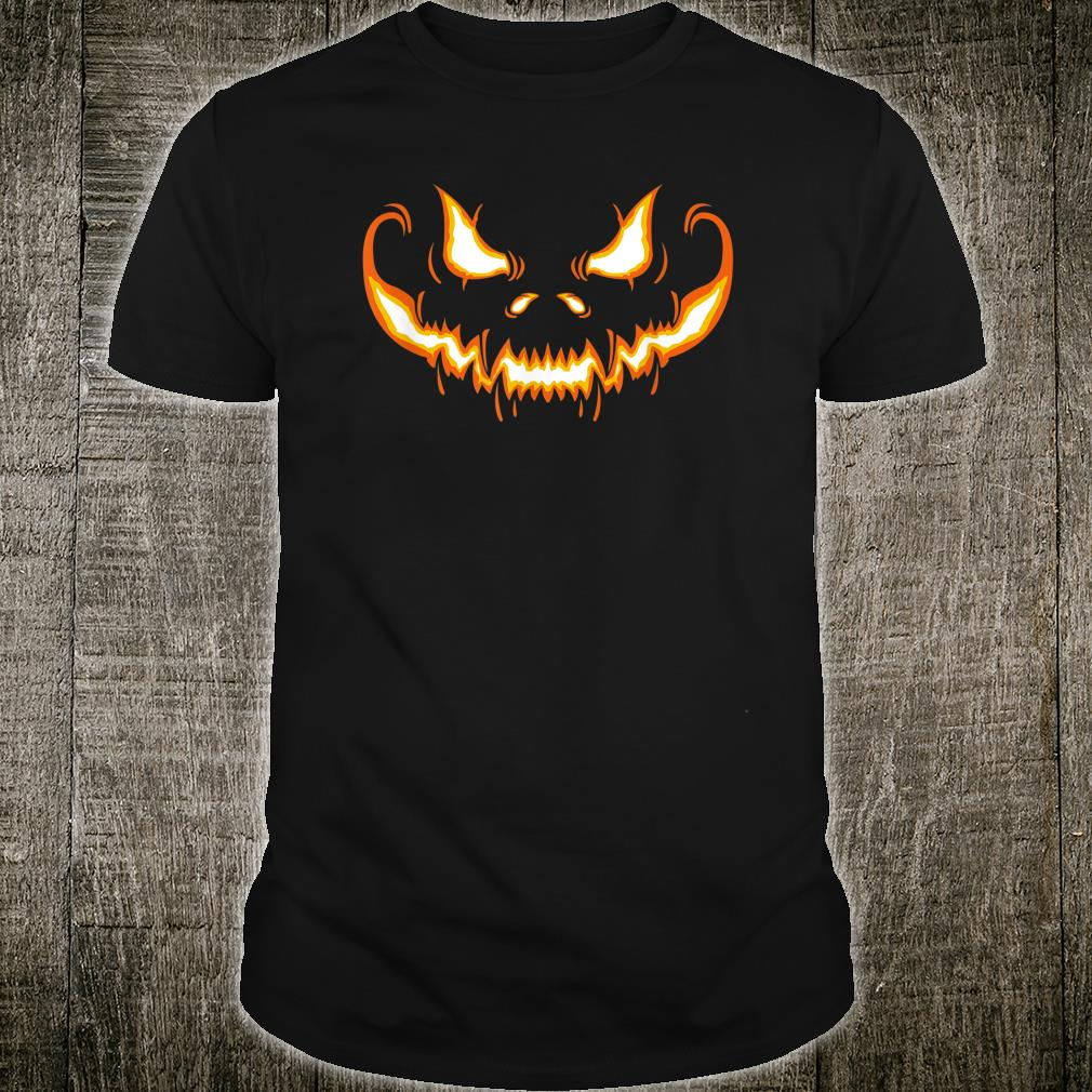 Scary Halloween Pumpkin Cute JackOLantern Shirt