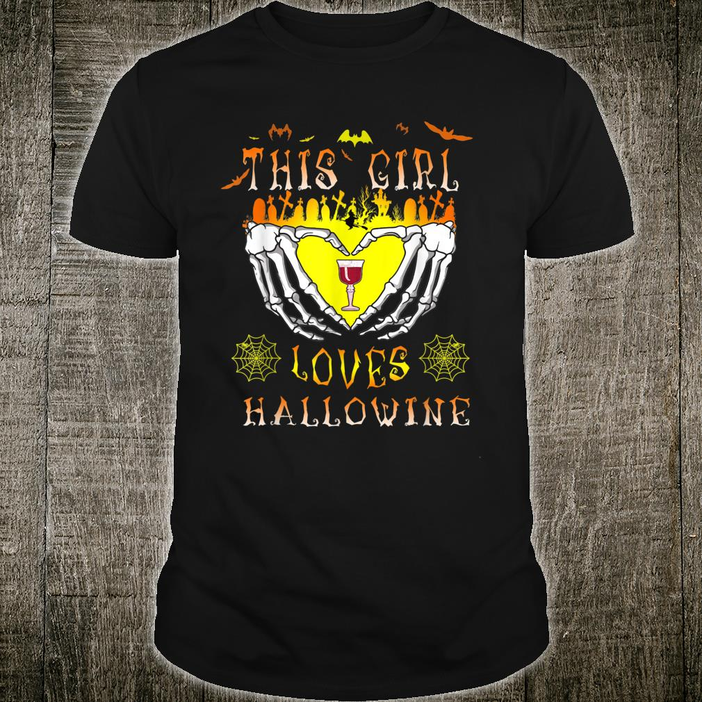 Scary Hands Bat This Girl Loves Halloween Wine Drinker Shirt