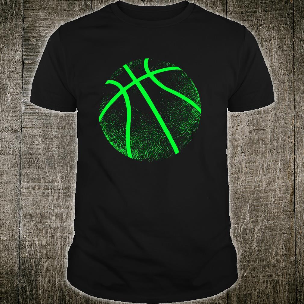 Schwarz und Grün Basketball Shirt