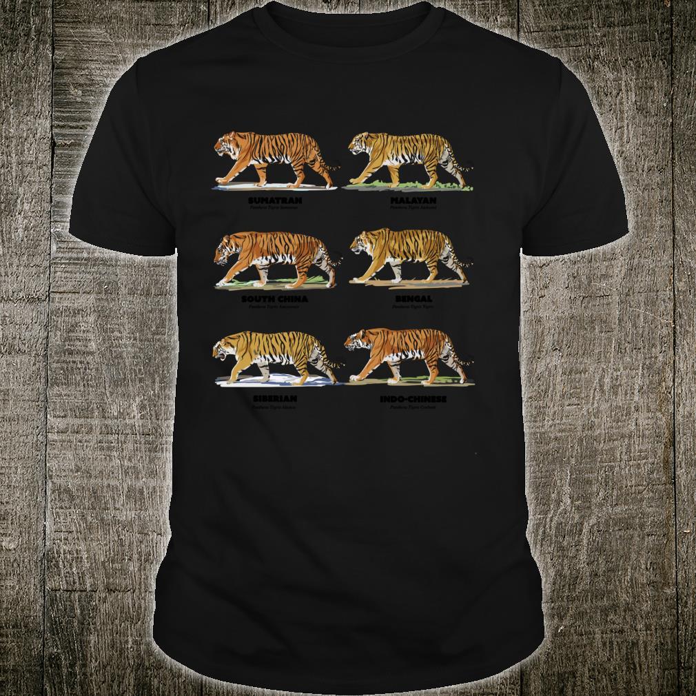 Scientific Exotic Tiger Names Shirt