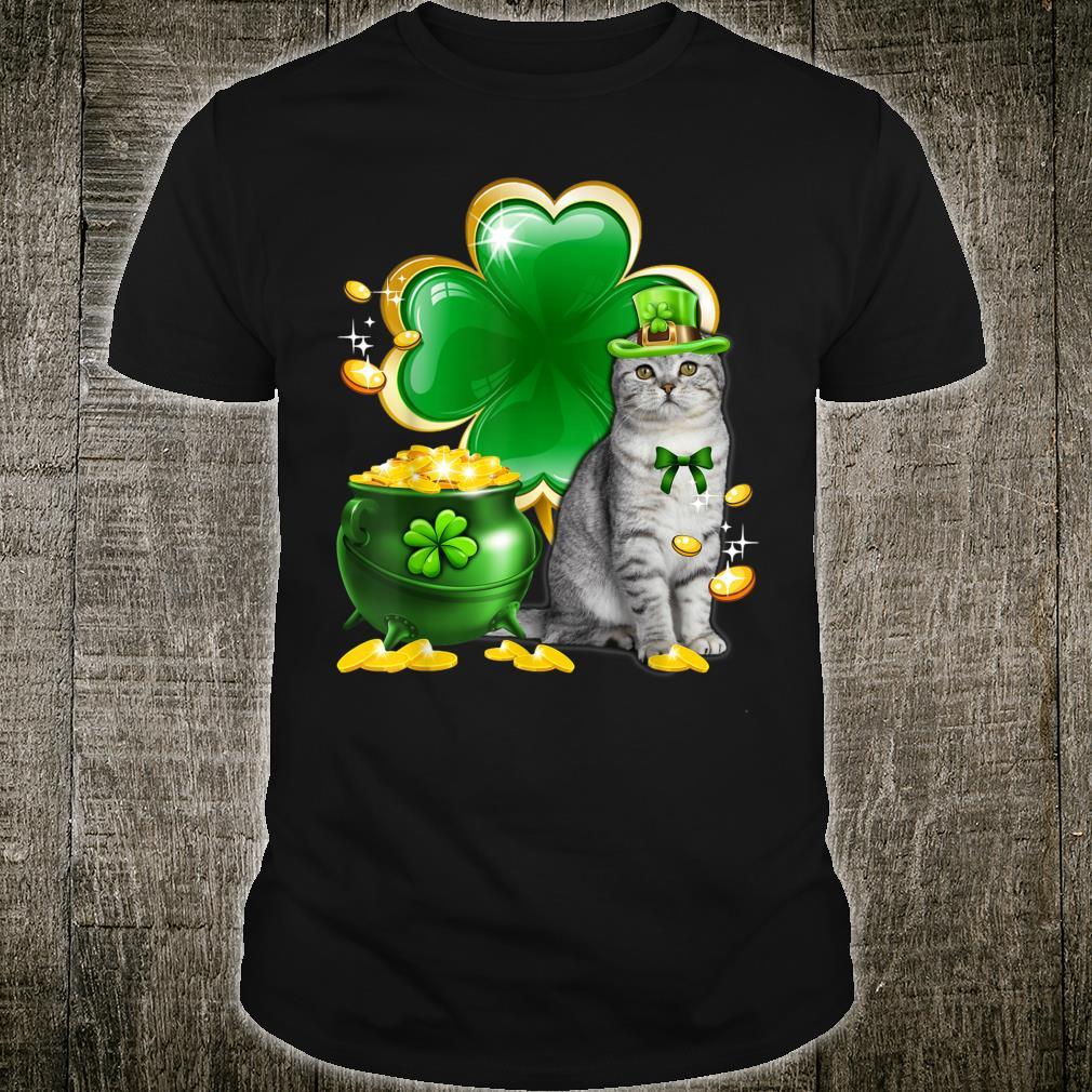 Scottish Fold Cat Patrick's Day Patraicks Day Shirt