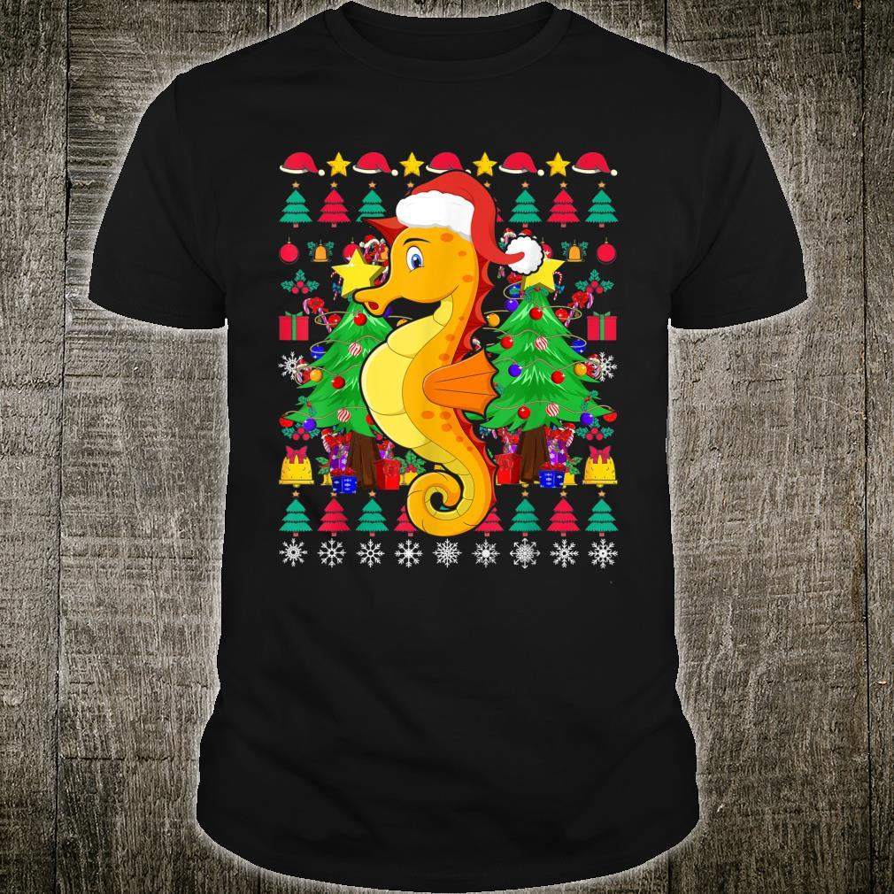 Seahorse Ugly Christmas Sea Animal Xmas Shirt