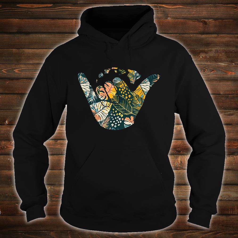 Shaka Hawaiian Islands Floral Print Shirt hoodie